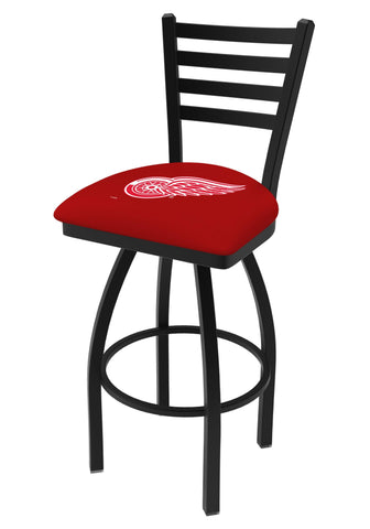 Detroit Red Wings HBS Red Ladder Back High Top Swivel Bar Stool Seat Chair