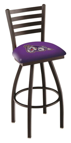 Shop James Madison Dukes HBS Ladder Back High Top Swivel Bar Stool Seat Chair - Sporting Up