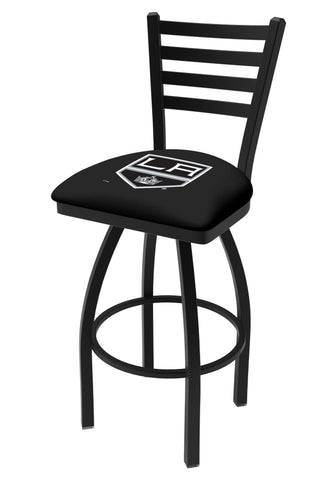 Los Angeles Kings HBS Black Ladder Back High Top Swivel Bar Stool Seat Chair