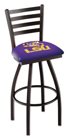 Shop LSU Tigers HBS Purple Ladder Back High Top Swivel Bar Stool Seat Chair - Sporting Up