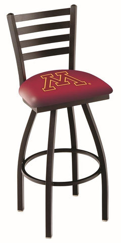 Minnesota Golden Gophers HBS Ladder Back High Top Swivel Bar Stool Seat Chair