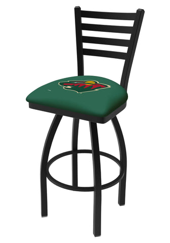 Minnesota Wild HBS Green Ladder Back High Top Swivel Bar Stool Seat Chair