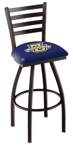 Marquette Golden Eagles HBS Ladder Back High Top Swivel Bar Stool Seat Chair