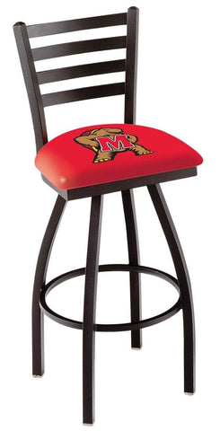 Maryland Terrapins HBS Red Ladder Back High Top Swivel Bar Stool Seat Chair