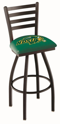 North Dakota State Bison HBS Green Ladder Back Swivel Bar Stool Seat Chair
