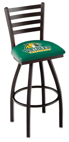 Shop Northern Michigan Wildcats HBS Ladder Back High Top Swivel Bar Stool Seat Chair - Sporting Up