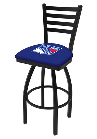 Shop New York Rangers HBS Blue Ladder Back High Top Swivel Bar Stool Seat Chair