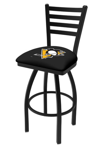 Pittsburgh Penguins HBS Black Ladder Back High Top Swivel Bar Stool Seat Chair - Sporting Up