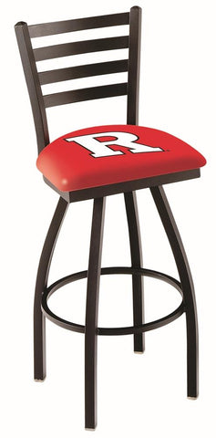 Rutgers Scarlet Knights HBS Ladder Back High Top Swivel Bar Stool Seat Chair