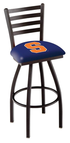 Syracuse Orange HBS Navy Ladder Back High Top Swivel Bar Stool Seat Chair