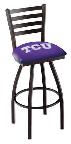 Shop TCU Horned Frogs HBS Purple Ladder Back High Top Swivel Bar Stool Seat Chair - Sporting Up