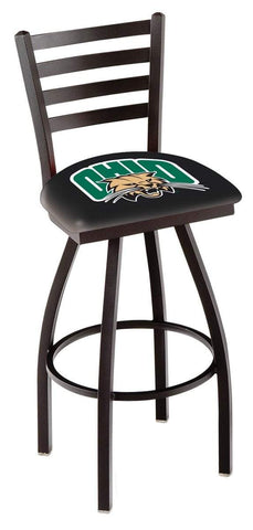 Ohio Bobcats HBS Black Ladder Back High Top Swivel Bar Stool Seat Chair