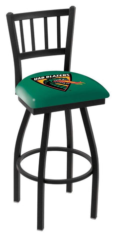 "UAB Blazers HBS Green ""Jail"" Back High Top Swivel Bar Stool Seat Chair"