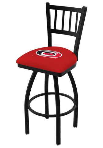 "Carolina Hurricanes HBS Red ""Jail"" Back High Top Swivel Bar Stool Seat Chair"