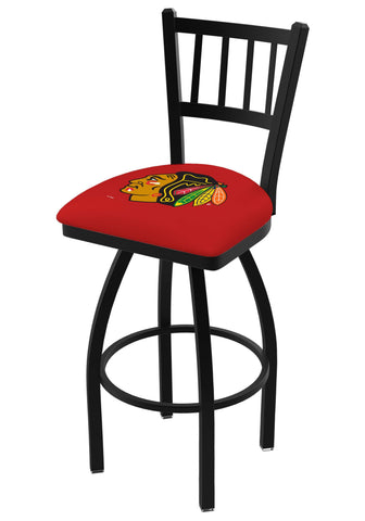 "Chicago Blackhawks HBS Red ""Jail"" Back High Top Swivel Bar Stool Seat Chair"