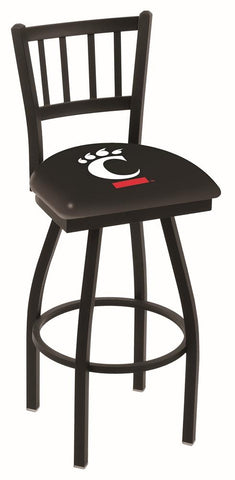 "Cincinnati Bearcats HBS ""Jail"" Back High Top Swivel Bar Stool Seat Chair"