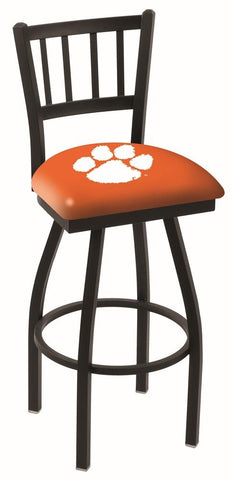 "Shop Clemson Tigers HBS Orange ""Jail"" Back High Top Swivel Bar Stool Seat Chair"