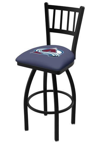 "Shop Colorado Avalanche HBS Navy ""Jail"" Back High Top Swivel Bar Stool Seat Chair - Sporting Up"