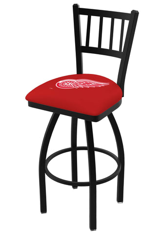 "Detroit Red Wings HBS Red ""Jail"" Back High Top Swivel Bar Stool Seat Chair"