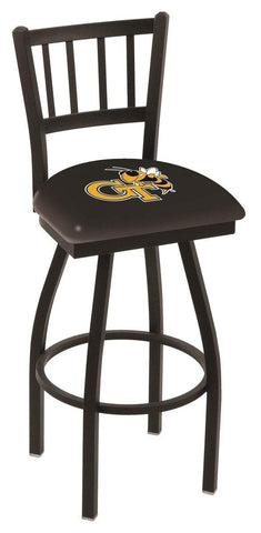 "Georgia Tech Yellow Jackets HBS ""Jail"" Back Swivel Bar Stool Seat Chair"