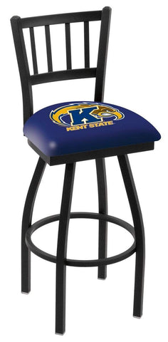 "Kent State Golden Flashes HBS ""Jail"" Back High Swivel Bar Stool Seat Chair"