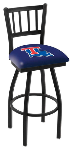 "Louisiana Tech Bulldogs HBS ""Jail"" Back High Top Swivel Bar Stool Seat Chair"