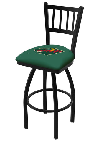 "Minnesota Wild HBS Green ""Jail"" Back High Top Swivel Bar Stool Seat Chair"