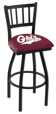 "Montana Grizzlies HBS Red ""Jail"" Back High Top Swivel Bar Stool Seat Chair"