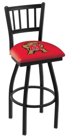 "Maryland Terrapins HBS Red ""Jail"" Back High Top Swivel Bar Stool Seat Chair"