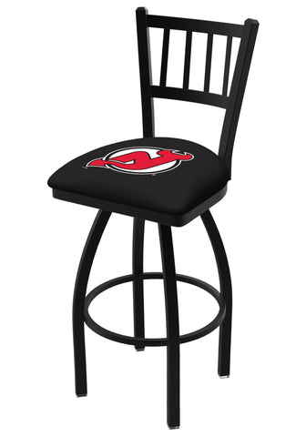 "New Jersey Devils HBS Red ""Jail"" Back High Top Swivel Bar Stool Seat Chair"