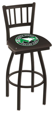 "North Dakota Fighting Hawks HBS ""Jail"" Back High Swivel Bar Stool Seat Chair - Sporting Up"