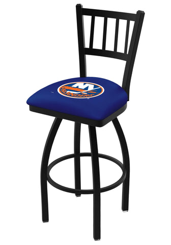 "New York Islanders HBS Blue ""Jail"" Back High Top Swivel Bar Stool Seat Chair"