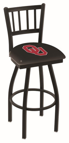 "Oklahoma Sooners HBS ""Jail"" Back High Top Swivel Bar Stool Seat Chair - Sporting Up"