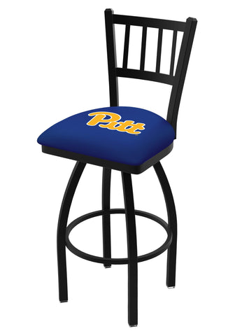 "Pittsburgh Panthers HBS ""Jail"" Back High Top Swivel Bar Stool Seat Chair"