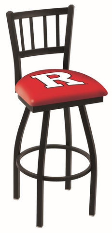"Rutgers Scarlet Knights HBS ""Jail"" Back High Top Swivel Bar Stool Seat Chair"