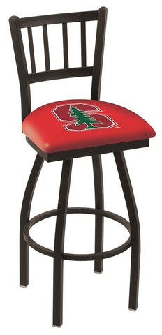 "Stanford Cardinal HBS Red ""Jail"" Back High Top Swivel Bar Stool Seat Chair"