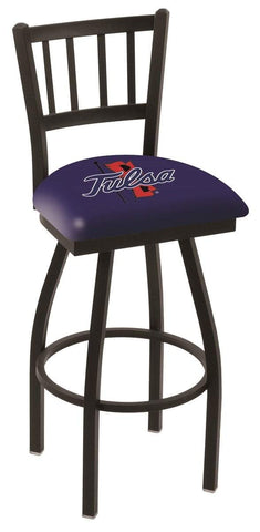 "Tulsa Golden Hurricane HBS ""Jail"" Back High Top Swivel Bar Stool Seat Chair"