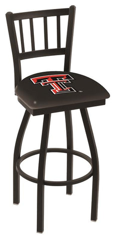 "Texas Tech Red Raiders HBS ""Jail"" Back High Top Swivel Bar Stool Seat Chair"