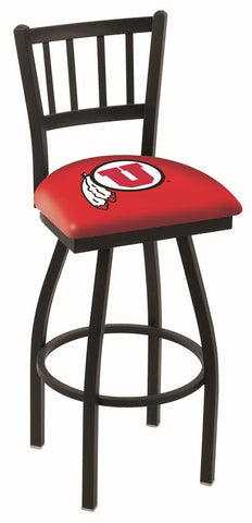 "Shop Utah Utes HBS Red ""Jail"" Back High Top Swivel Bar Stool Seat Chair - Sporting Up"