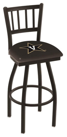 "Vanderbilt Commodores HBS ""Jail"" Back High Top Swivel Bar Stool Seat Chair"