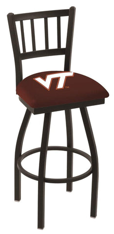 "Shop Virginia Tech Hokies HBS Red ""Jail"" Back High Top Swivel Bar Stool Seat Chair - Sporting Up"