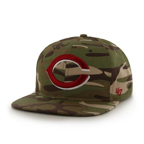 Shop Cincinnati Reds 47 Brand Camo Air Drop Adjustable Strapback Hat Cap - Sporting Up