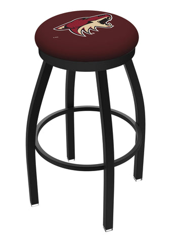 Arizona Coyotes HBS Black Swivel Bar Stool with Cushion