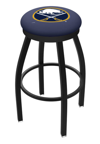Shop Buffalo Sabres HBS Black Swivel Bar Stool with Blue Cushion - Sporting Up