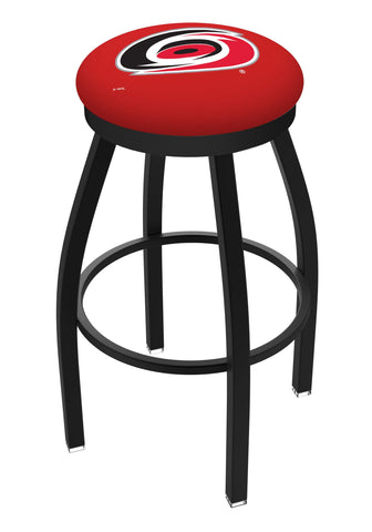Shop Carolina Hurricanes HBS Black Swivel Bar Stool with Red Cushion - Sporting Up