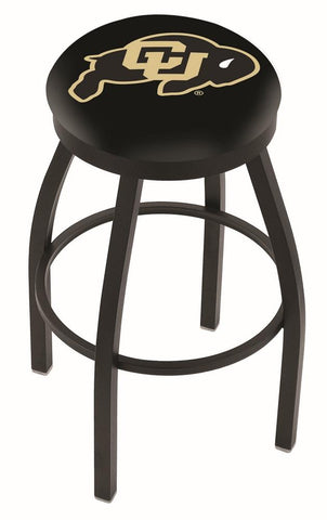 Colorado Buffaloes HBS Black Swivel Bar Stool with Cushion