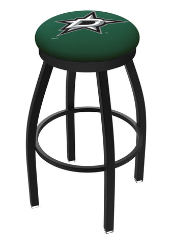 Dallas Stars HBS Black Swivel Bar Stool with Green Cushion