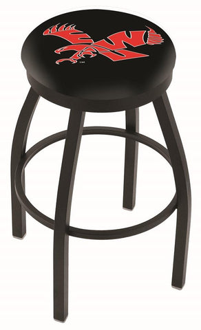 Eastern Washington Eagles HBS Black Swivel Bar Stool with Cushion