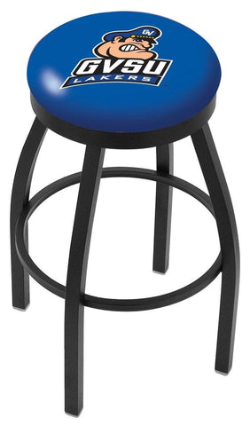 Grand Valley State Lakers HBS Black Swivel Bar Stool with Blue Cushion