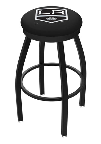 Los Angeles LA Kings HBS Black Swivel Bar Stool with Cushion